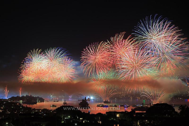 International Fleet Review fireworks<br /> Sydney Harbour