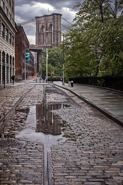 Brooklyn Bridge Reflected