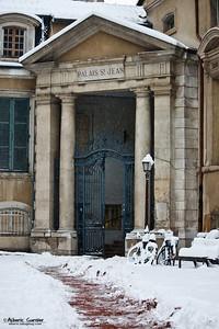 Lyon sous la neige - Palais St Jean