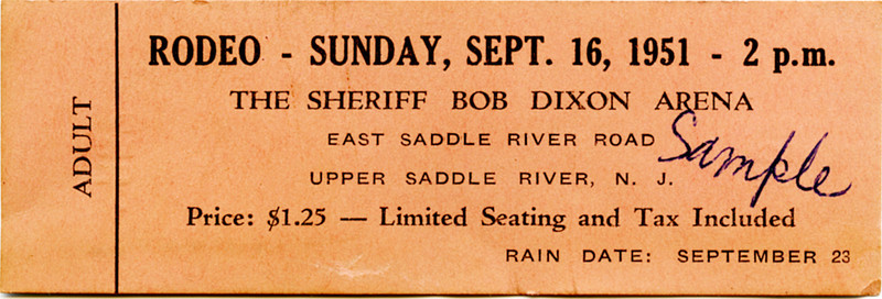Rodeo ticket found in 2011 during house renovations