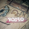 Double H Rodeo sign & artifacts