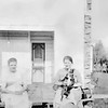 Sisters Lettie & Edna Filer & Buster at the Gardiner house - 1923
