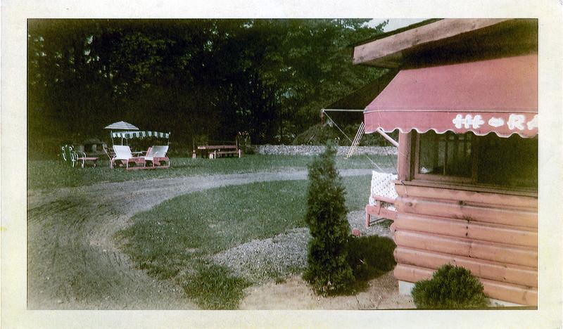 Side of porch & back yard - September 1949