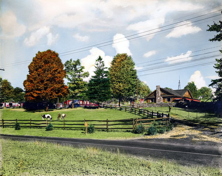 Double H Ranch house & property - Colorized photo circa 1951