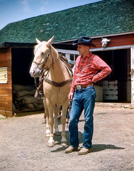 Ed Ewald & his horse Blondie ca 1953