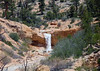 Waterfall along, Water Canyon - along the Mossy Cave Trail - Bryce Canyon National Park