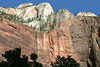 """Cable Mountain - from Zion Canyon, at the """"Big Bend"""" - Zion National Park"""