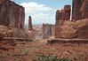 From the north end of Park Avenue - to Sheep Rock and southern end of the Tower of Babel - Arches National Park