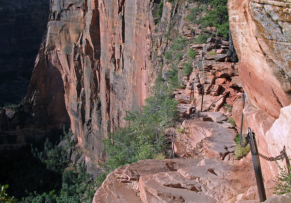 Along the Angels Landing Trail - northeastern vertical face - Zion National Park