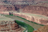 """From Dead Horse Point - down to the north end of the """"Goose Neck"""" - and the riparian vegetation along the Colorado River"""