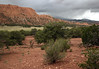 """Across the Sheets Draw - to """"The Salmon"""" - along the 4X4 route into the south entrance of Capitol Reef National park - with the rainclouds above the Boulder Mountains in the distance - Dixie National Park"""