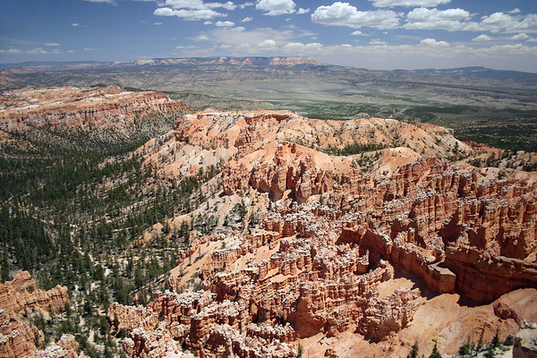 """From Bryce Point - beyond Bristlecone Point - Bryce Canyon National Park - across the Tropic Valley and East Valley - to the distal Table Cliff and Powell Point, at the southern end of the Aquarius Plateau - the upper section of the """"Grand Staircase"""""""