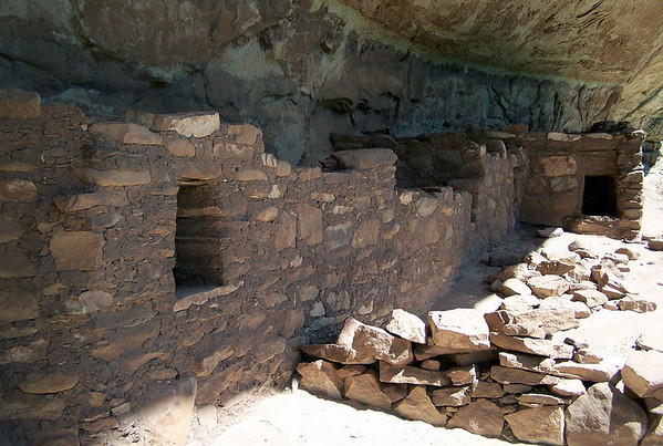 Horsecollar Ruin - dwelling under the alcove, along the base of the White Canyon - Natural Bridges National Monument