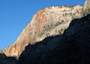 Late evening shadow across the lower slopes of Cable Mountain - Zion National Park