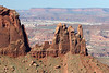 Beyond the northwestern tip of Juntion Butte - across Petes Mesa - to The Maze (district) - Canyonlands National Park - to the Orange Cliffs at Lands End (about 20 mi. - 32 km) - Glen Canyon National Recreation Area.