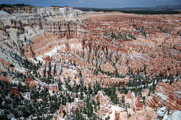 From Bryce Point - across the Amphitheater (Wall of Windows, The Cathedral, and Silent City) - Bryce Canyon National Park