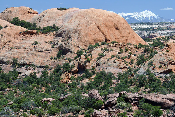 From Whale Rock, northern end of Canyonlands National Park - to the distal snow-capped La Sal Mountains