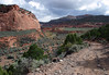 Along the 4X4 road at the confluence of Maverick Draw and Tantalus Creek - the south entrance into the Capitol Reef National Park
