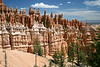 The Amphitheater's limestone hoodoos, under the cumulus clouds - Bryce Canyon National Park