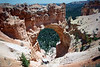 Natural Bridge - which is geologically and technically an arch (for natural bridge formations are formed by a river or stream eroding the base of the natural stone - to the distal Rainbow Point - Bryce Canyon National Park