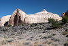 Navajo Dome - with igneous rock along the lower slopes - Capitol Reef National Park