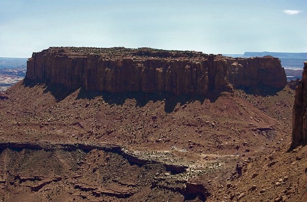 Early afternoon shadow across the eastern cliff face of Junction Butte - Canyonlands National Park