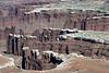 Monument Basin area - White Rim sandstone stratum cap - above the  Organ Rock shale - Canyonlands National Park