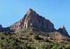 Johnson Mountain, at 6,170 ft. (1,881 m) - just north of the East Fork Virgin River, with its confluence at the North Fork Virgin River - Zion National Park