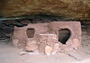 """Horsecollar Ruin - the ruin is named after the dual opening to this """"grainery"""" - Natural Bridges National Monument"""