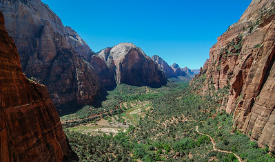 Zion Valley floor overlook