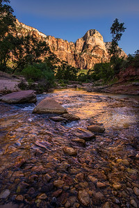 Zion monoliths in afternoon sun