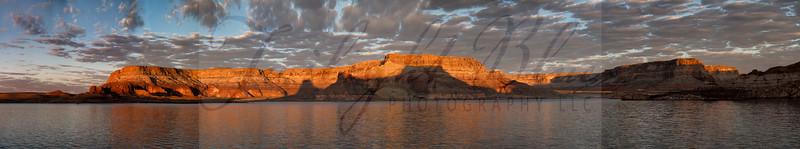 Gun Sight Canyon Sunrise Pano II