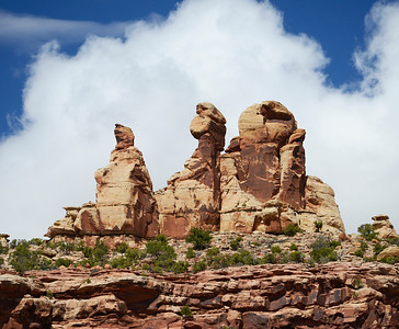 'Lady Liberty, Charles Darwin and the Broken Egg'  Taken in Needles section of Canyonlands National Park.