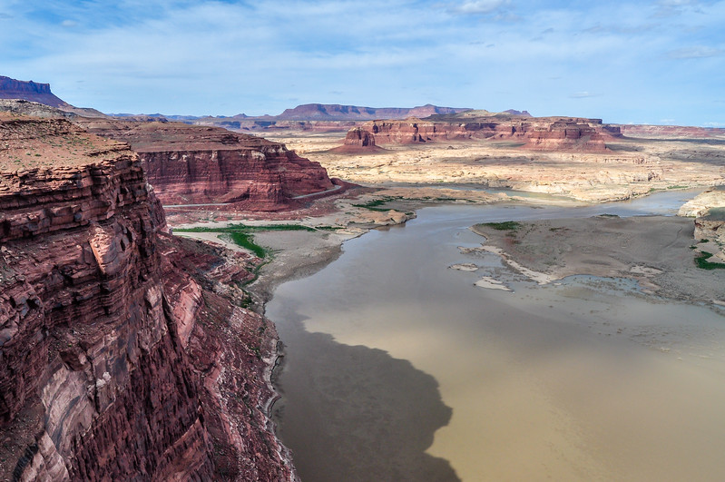 Towering Cliffs Over Lake Powell