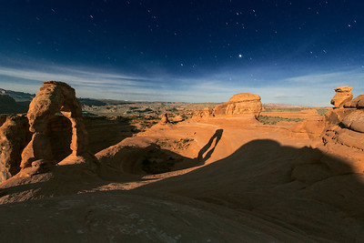 Delicate Arch during Moonrise