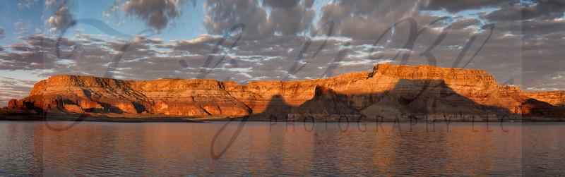 Gun Sight Canyon Sunrise Pano