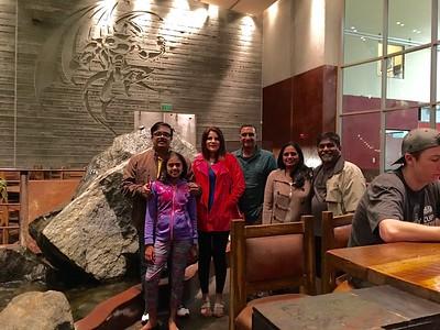 Uttara Ram, and Mohan visit San Diego. At Stone Brewery, Escondido, California.