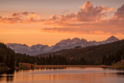 Golden Sunset at Black Lake in Colorado