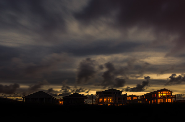 Beach Houses by Night