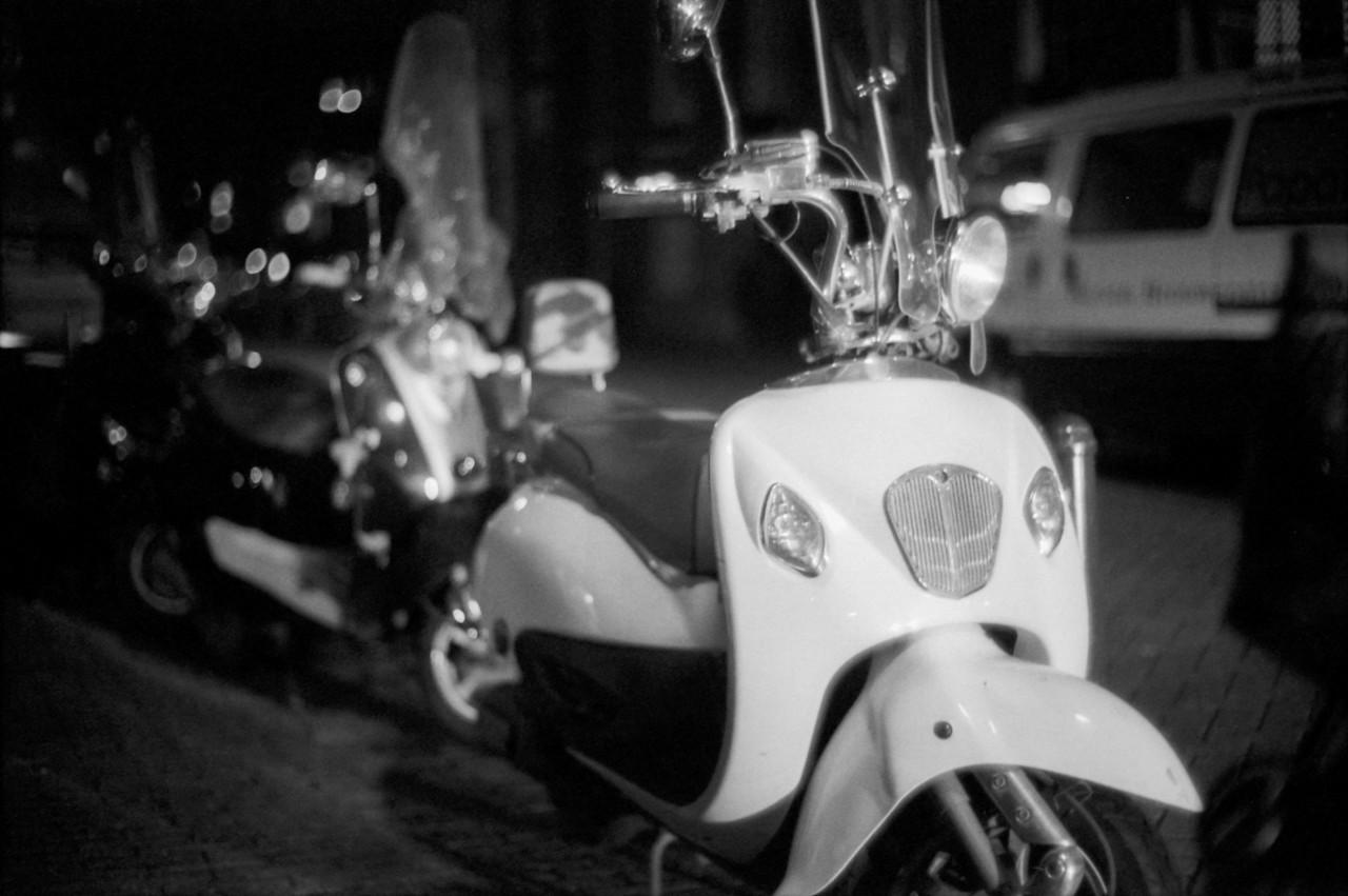 White ride in the dark