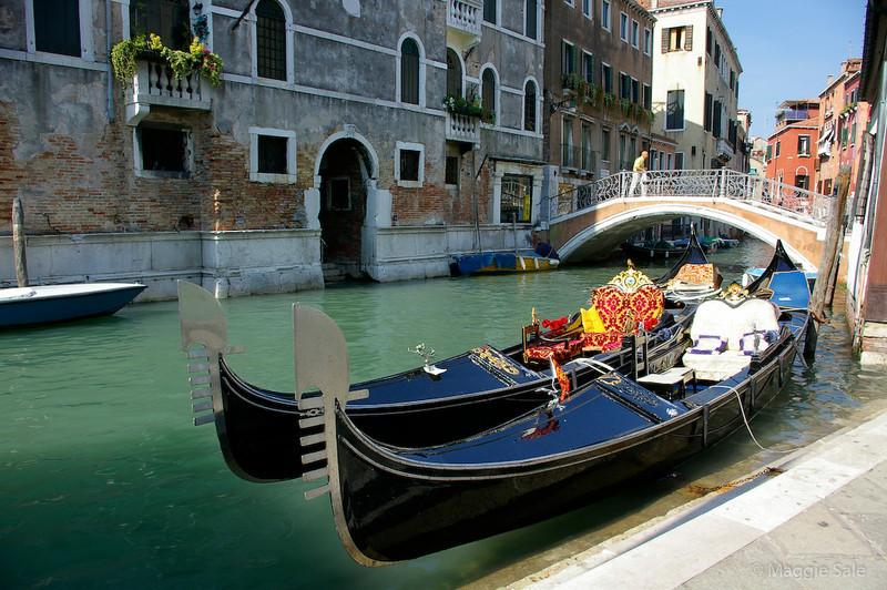 Gondolas Tied Up