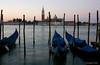 Gondolas at Dawn