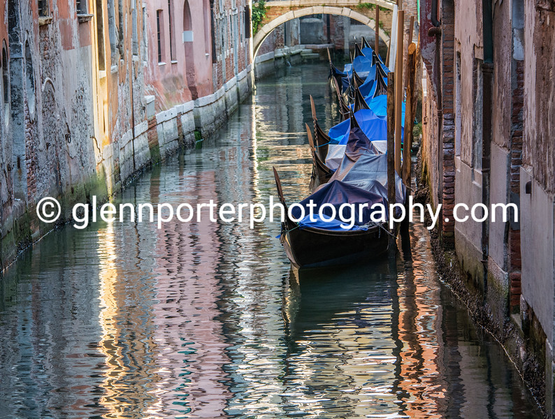 Sleeping Gondolas Venice – a morning image from an early walk around Venice, before too many tourists arrived. Italy
