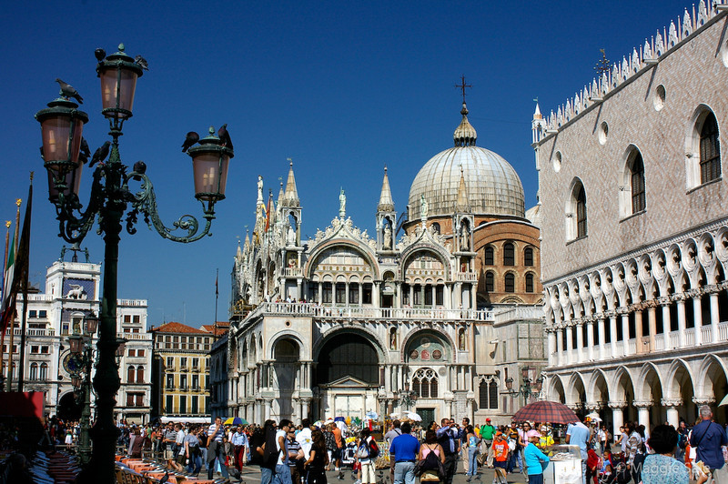 Looking into St  Mark's Square