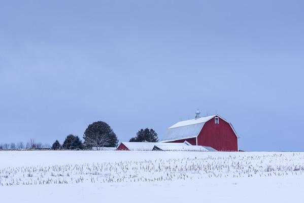 Vermont Farm in Winter
