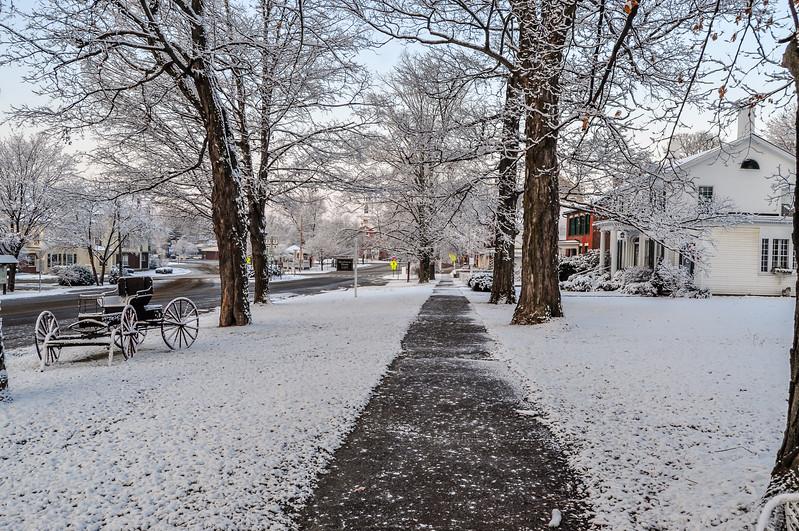 Winter Walk in Brandon, Vermont