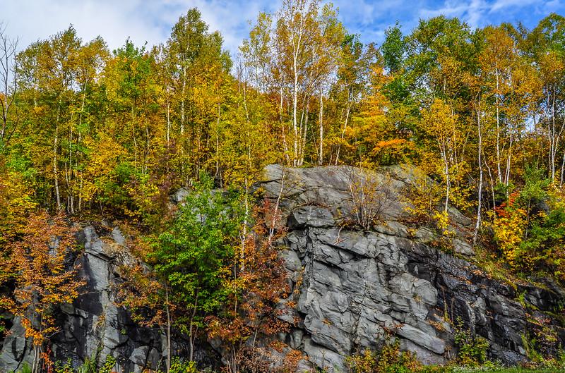 Brandon Gap Cliff in Autumn Colors