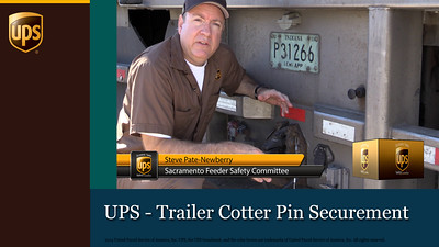 UPS - Trailer Cotter Pin Securement