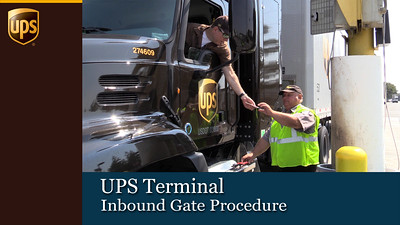 UPS Terminal Inbound Gate Procedure