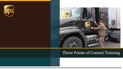 UPS - Three Points of Contact Training